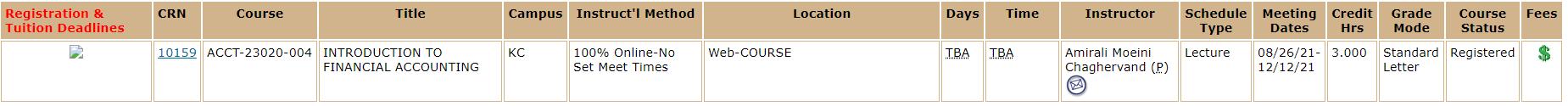 100% Online-No Set Meet Times Course sample