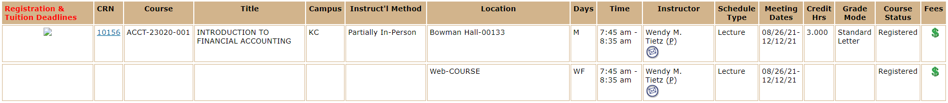 Partially Online Course sample