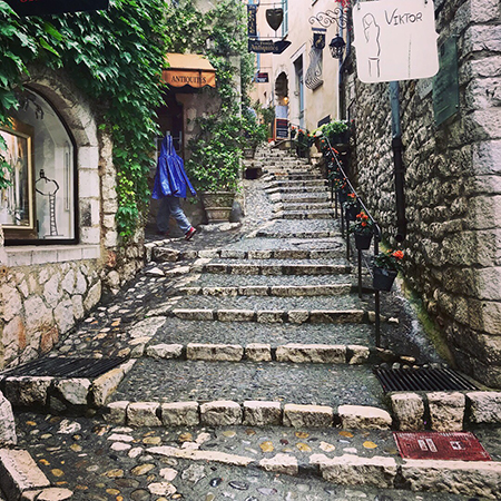 Jennifer Reeves, adjunct faculty member in the College of Business Administration, vacationed at the Cote d'Azur this summer. She captured this photo of a winding alley in the medieval city of St. Paul de Vence, France.