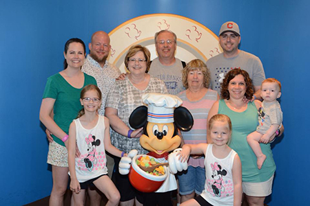 Sheila Pratt, administrative assistant with the Office of Technology Commercialization, and nine other family members visited Disney World this past May.