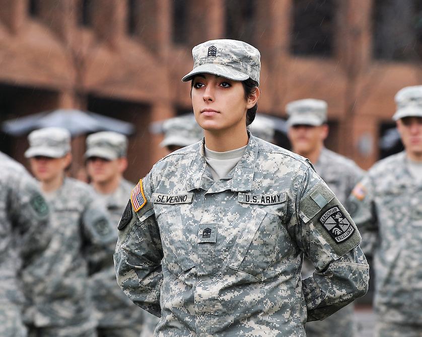 Woman veteran