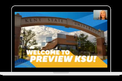 Virtual Preview KSU Kent State Graphic