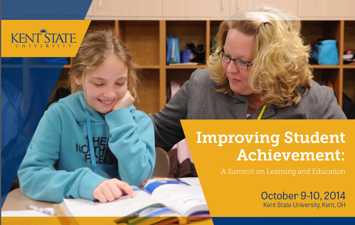 Improving Student Achievement Summit, Oct. 9 and 10 at Kent State University