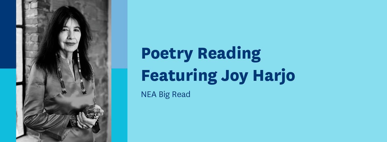 Big Read Joy Harjo banner