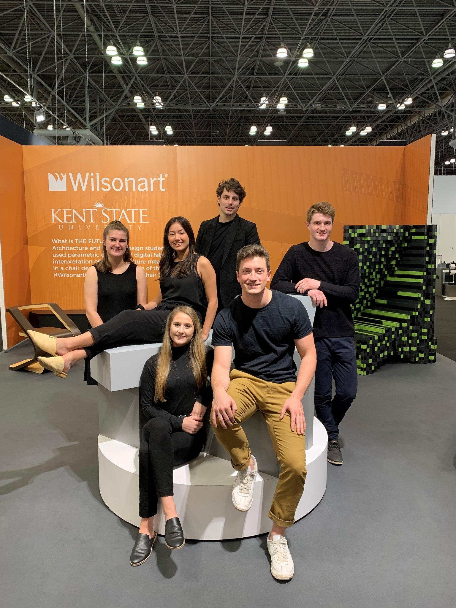 Kent State students at Wilsonart competition