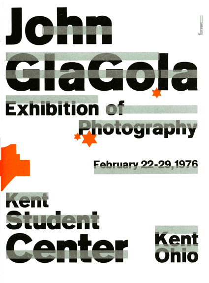 Wolfgang Weingart, 1975, Untitled poster for a Kent State University students' photography exhibition