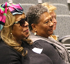 Marilyn Nelson (center) with Yvette Kirksey and Ione Cowen