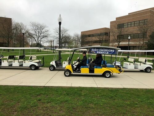 Zero Emission Vehicle with Gas Carts