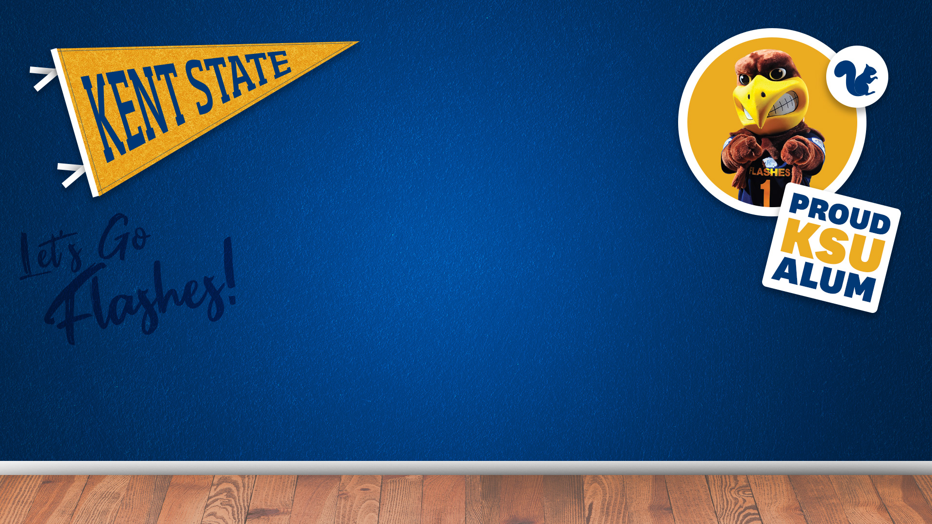 Kent State Go Flashes! Zoom background