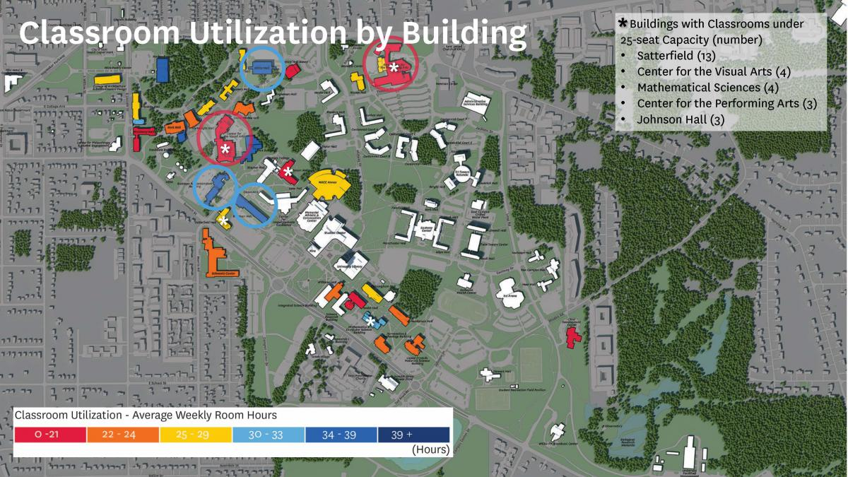 Classroom Utilization by Building Map