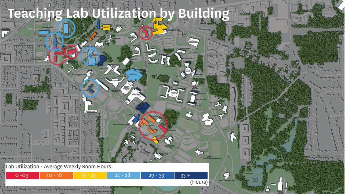 Teaching Lab Utilization by Building