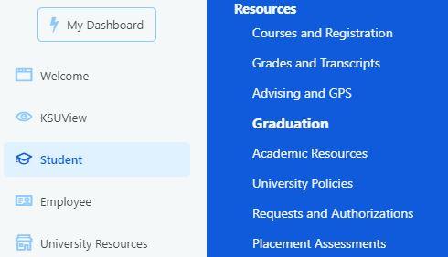Screenshot of Flashline options to apply for graduation