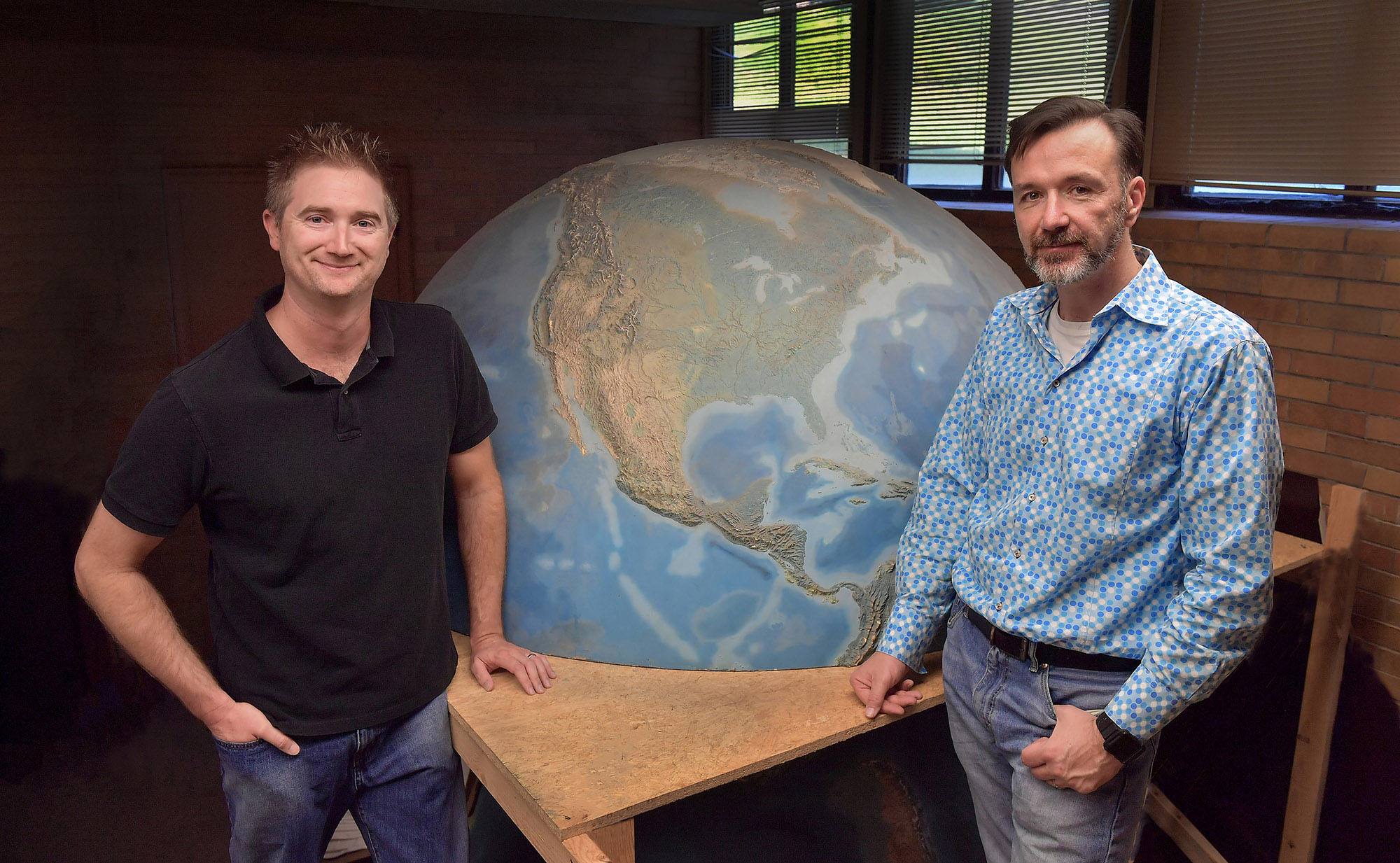 Cameron Lee, Ph.D., (left) and Scott Sheridan, Ph.D., (right) from Kent State University's Department of Geography have teamed up to secure two research grants to study climate change and weather patterns.