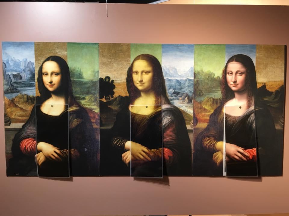 Three Images of Mona Lisa