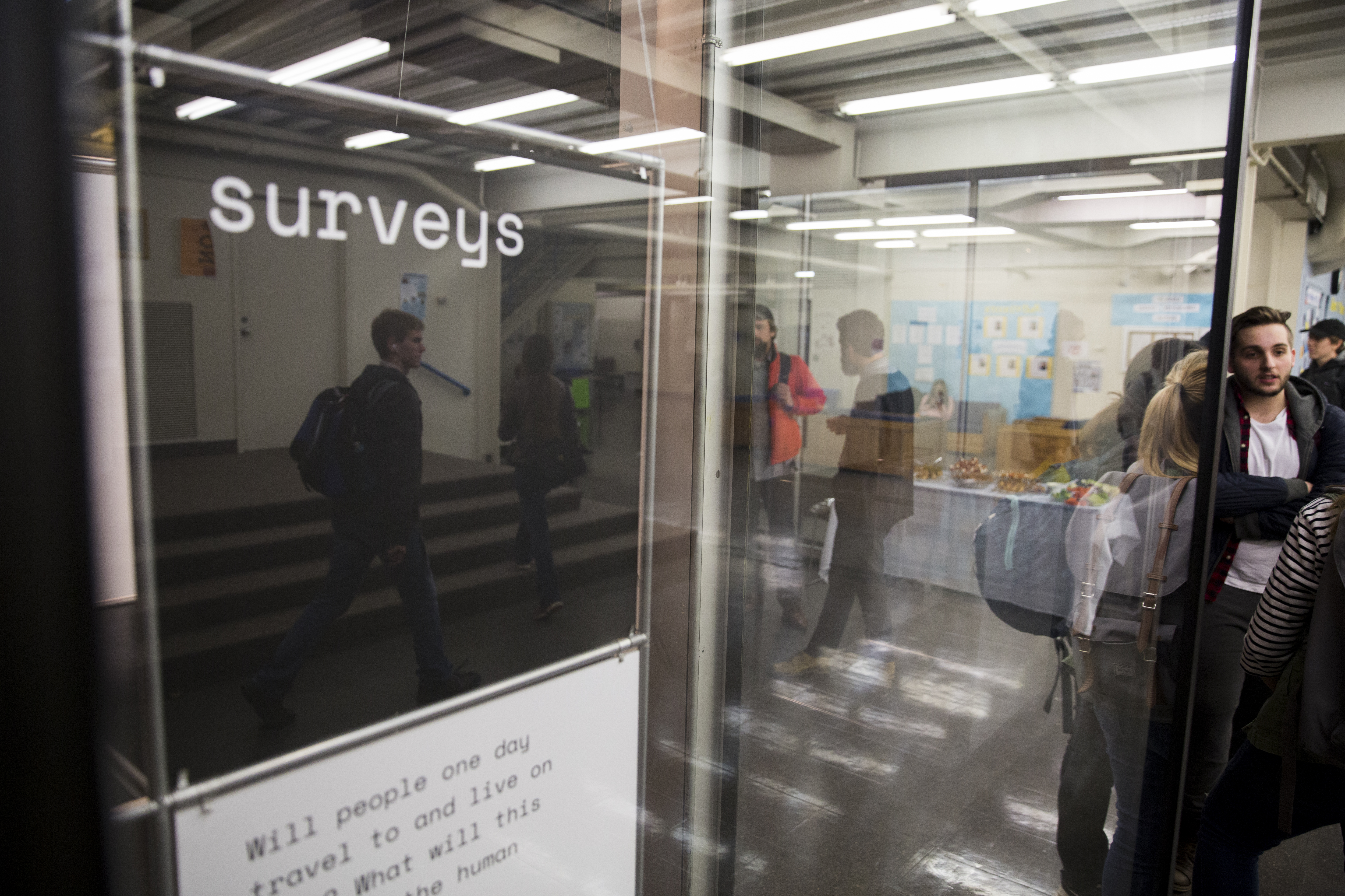 Surveys is a work of Kent State University Visual Communication Design MFA students, inspired by NASA's Orion Spacecraft, built to transport humans to interplanetary destinations such as asteroids, the moon and eventually Mars.