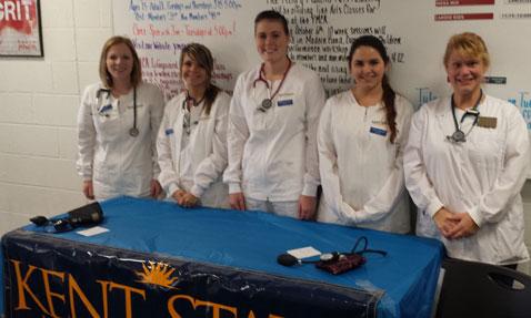 Nurse Group with Nursing Professor Angela Douglass