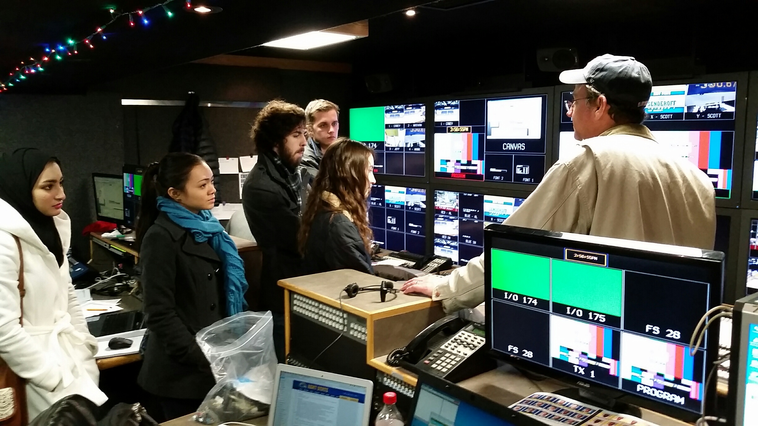 Eric Alkire Visits the TeleProductions Studio and Speaks with Students