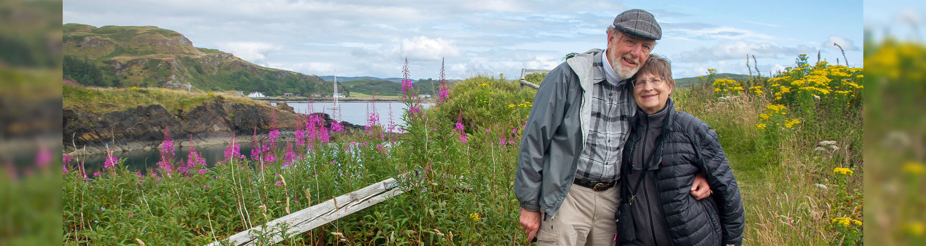 Jay and Joanie Solomon on a tiny island in Scotland's Inner Hebrides 2018