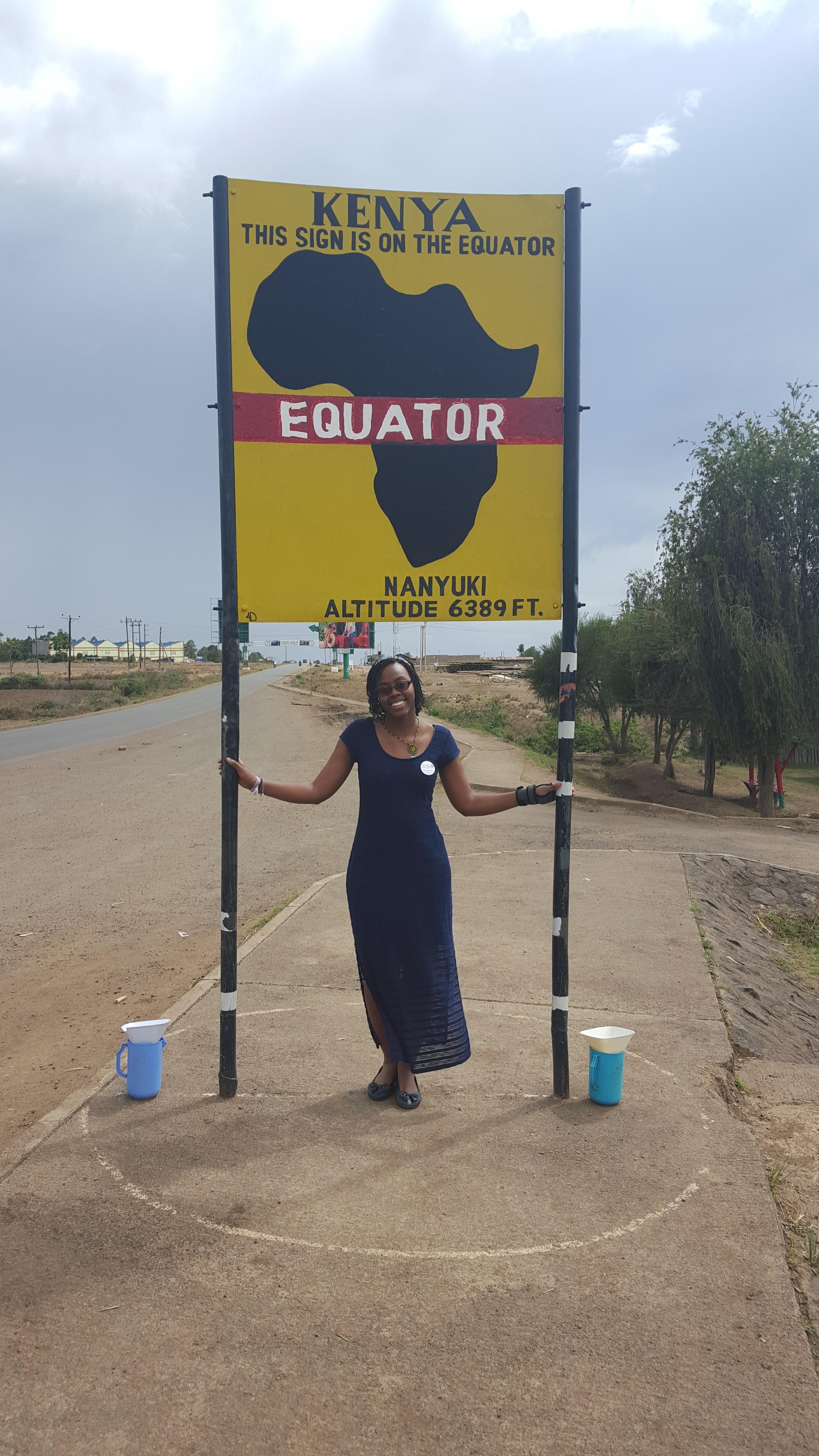 SLIS Student Kymberlee Powe in Kenya