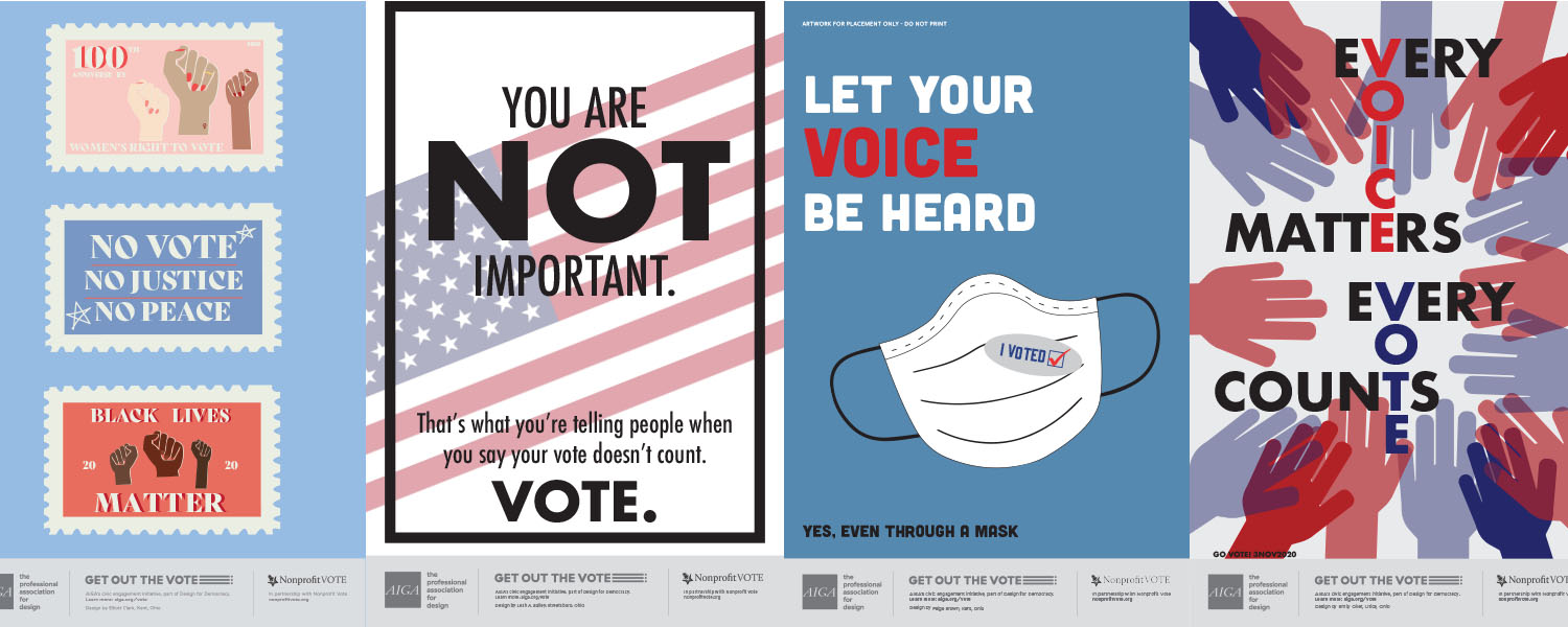 Student posters - Get Out The Vote