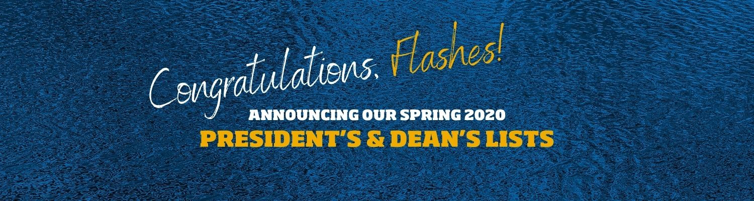 President's and Dean's lists for Spring 2020