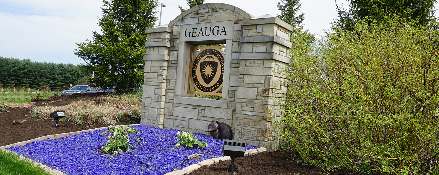 Geauga Campus sign outside building