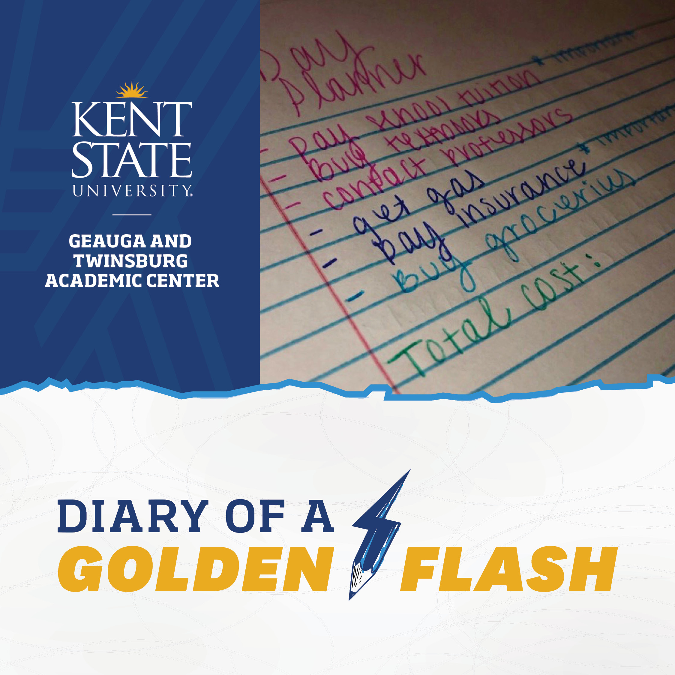 Diary of a Golden Flash Note Book