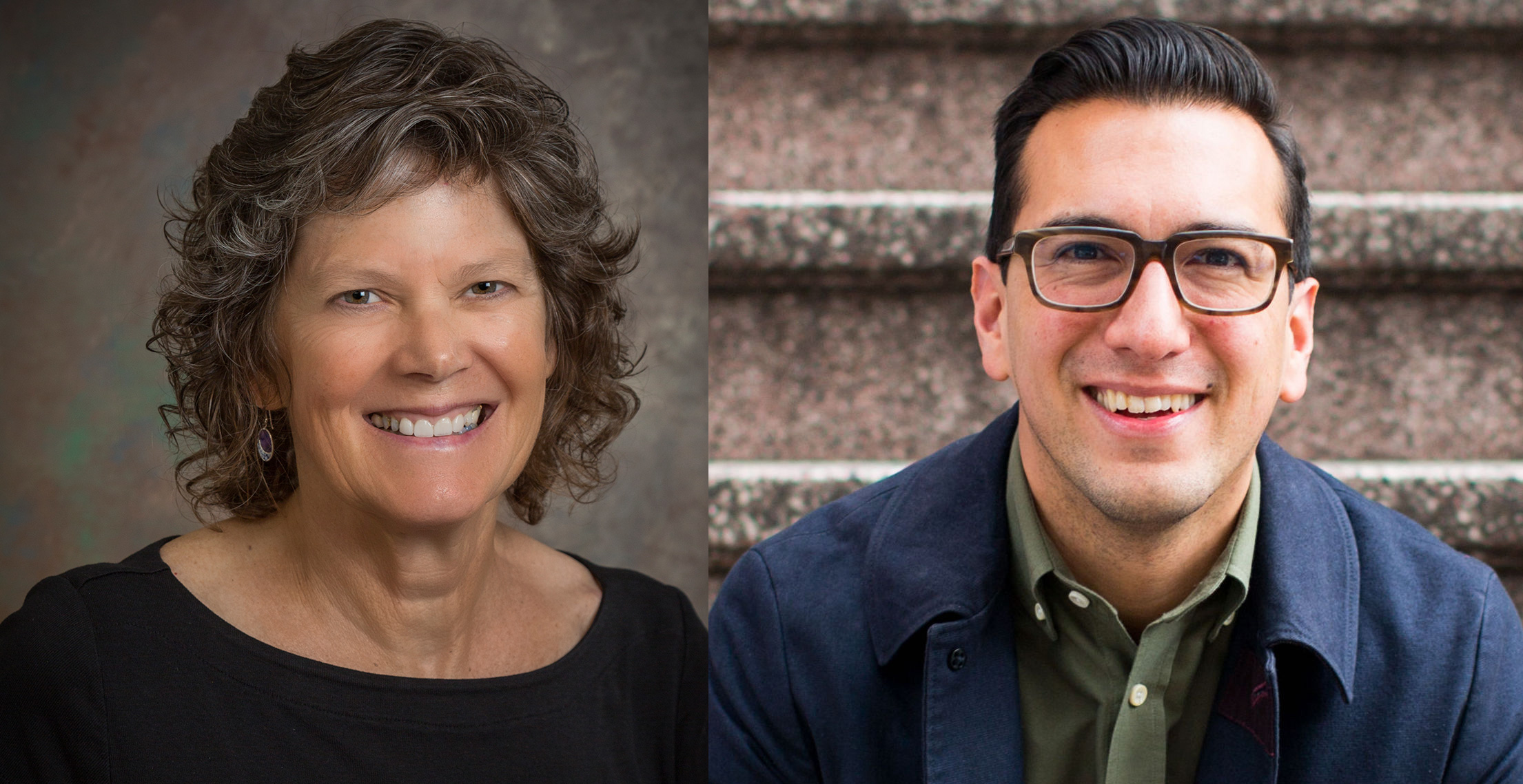 (Left) Dr. Mary Dozier, a developmental psychologist at the University of Delaware; (Right) Dr. Jamil Zaki, a social neuroscientist at Stanford University
