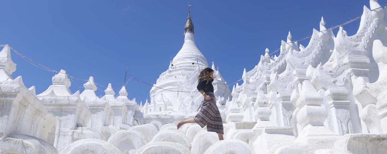 Duncan Visiting Hsinbyume Pagoda, Sagaing Region, Myanmar