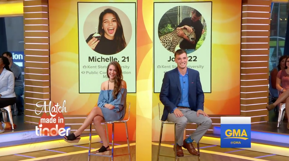 Michelle Arendas and Josh Avsec meet on GMA.