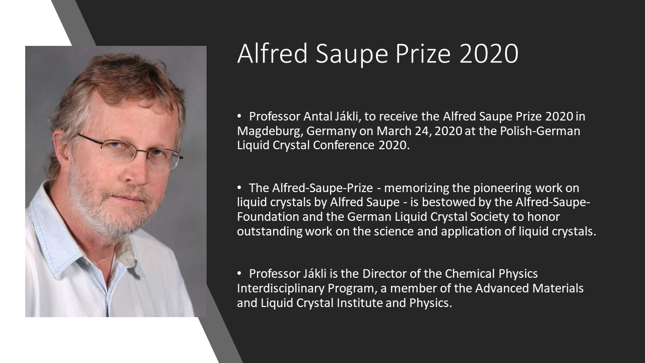 Alfred Saupe Prize 2020