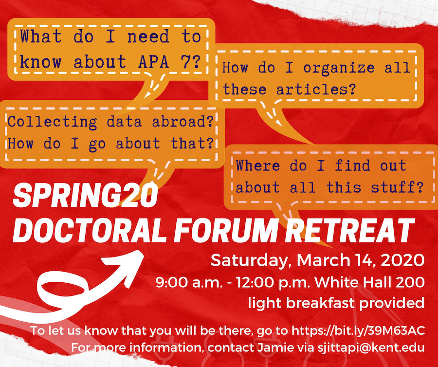 Picture of Spring20 Doctoral Forum Retreat Poster