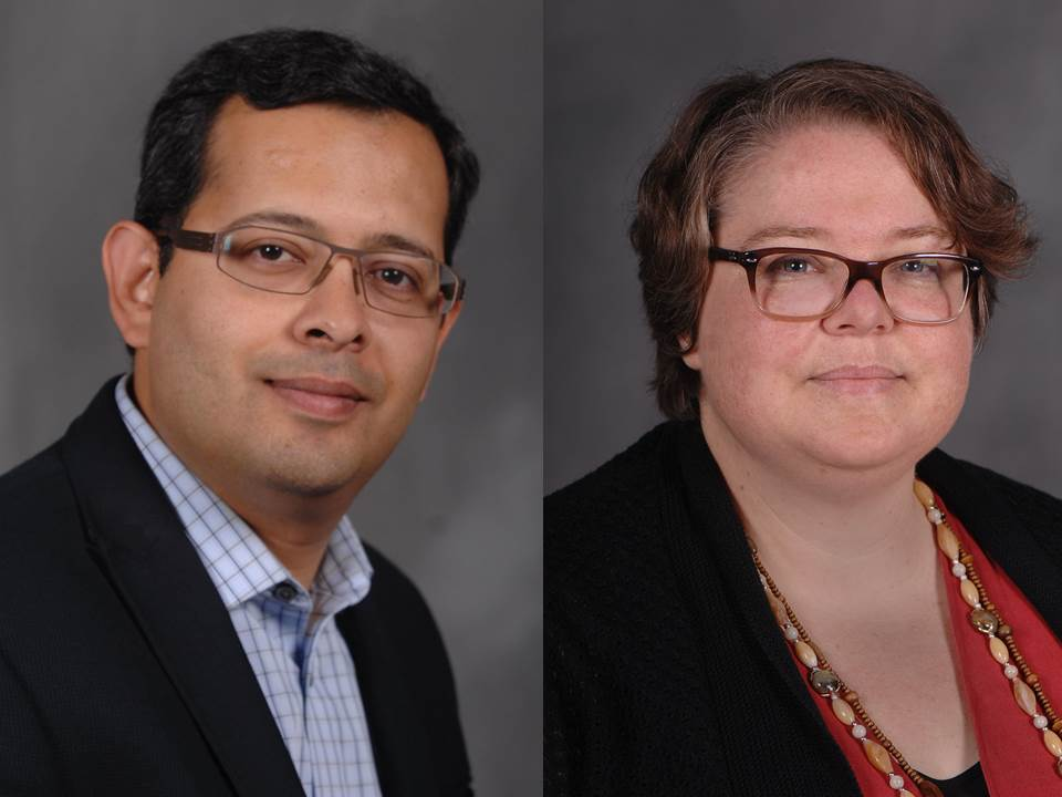New SLIS faculty Emad Khazraee and Leisa Gibbons