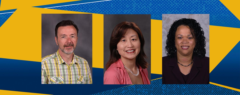 Scott Sheridan, Yuko Kurahashi and Angela Neal-Barnett are the 2020 Outstanding Research and Scholarship Award Winners
