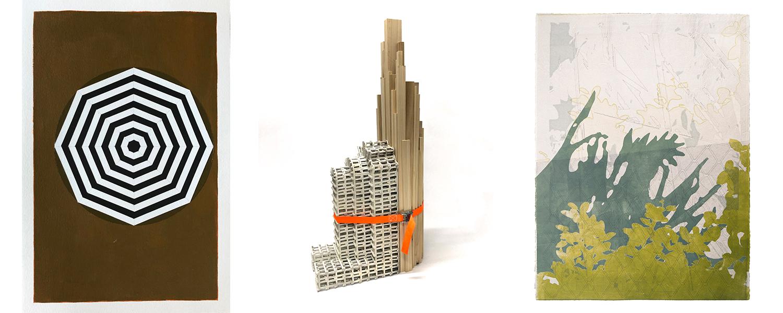 Three artworks by School of Art faculty