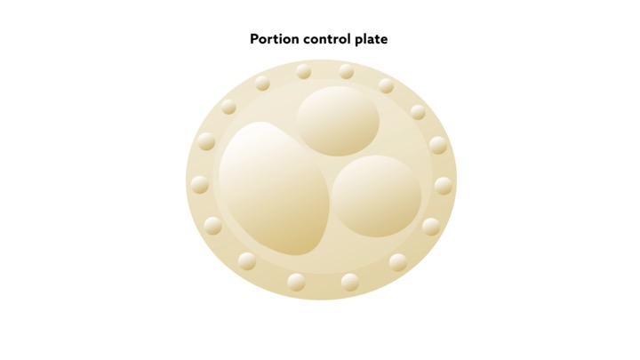 Kent State University researchers use indents and boarders on plates to study how optical illusions help people choose smaller portions.