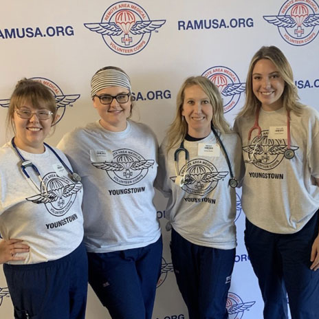 Student nurses who volunteered at the RAM free clinic