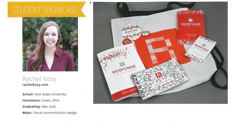 Senior Rachel Kozy is featured in Communication Arts magazine!