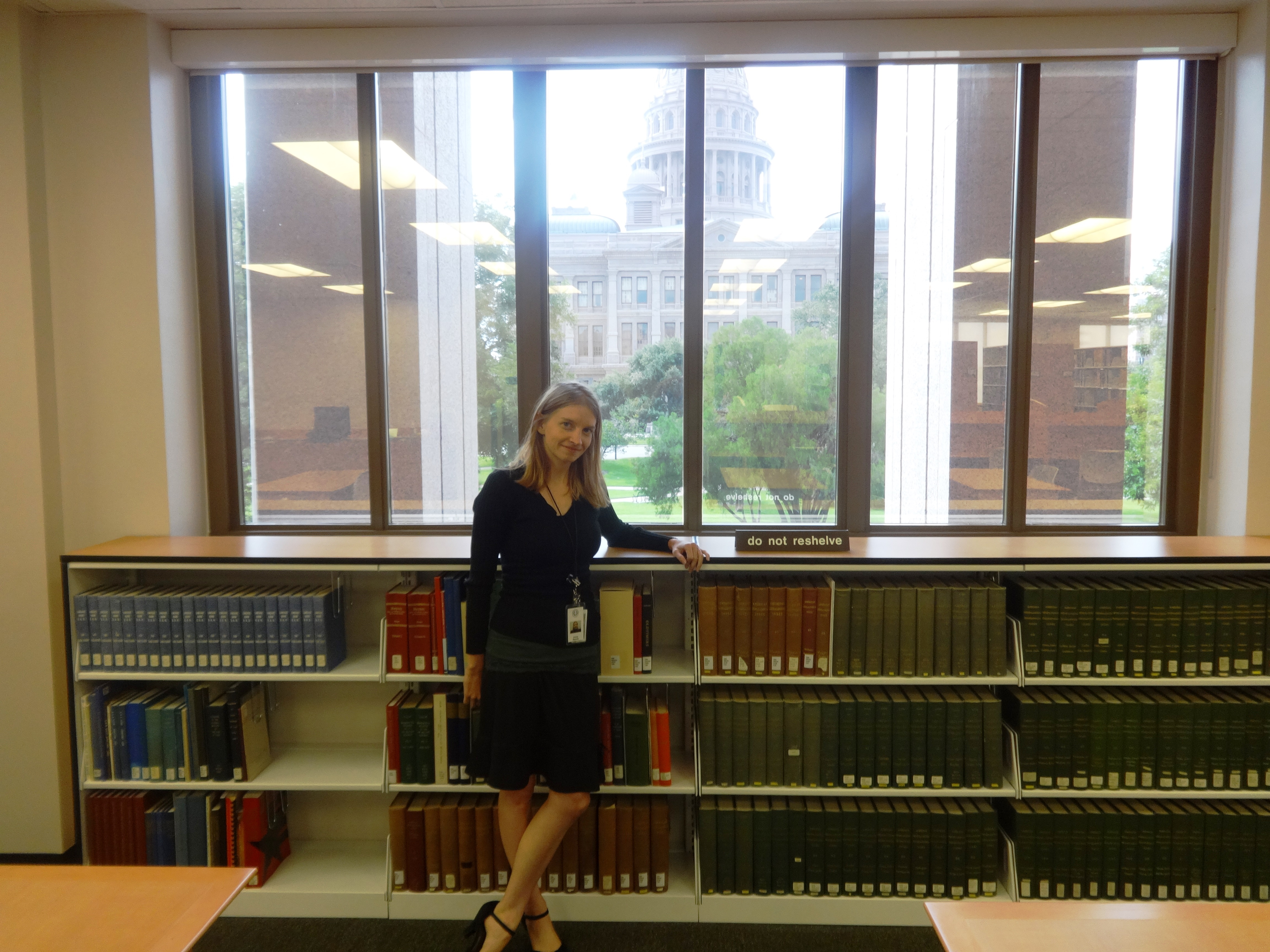 Anna Reznik, M.L.I.S. 2014, Archivist, Texas State Library Archives Commission