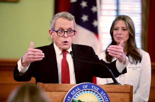 Dewine and Actions at press conference