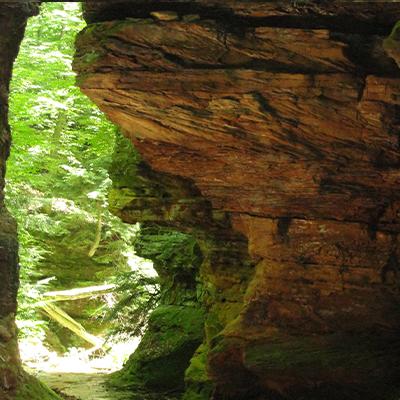 Rocks in gorge