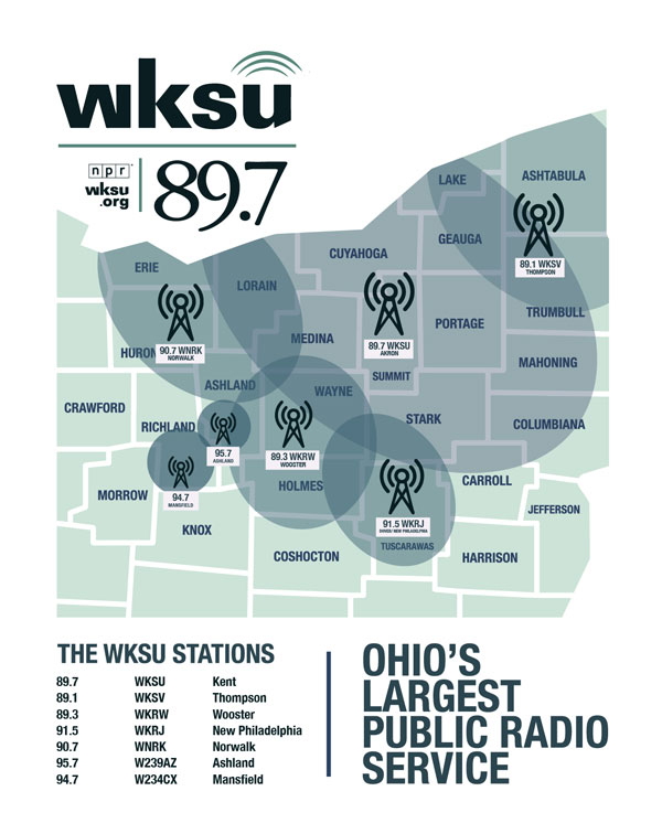 WKSU Coverage Maps