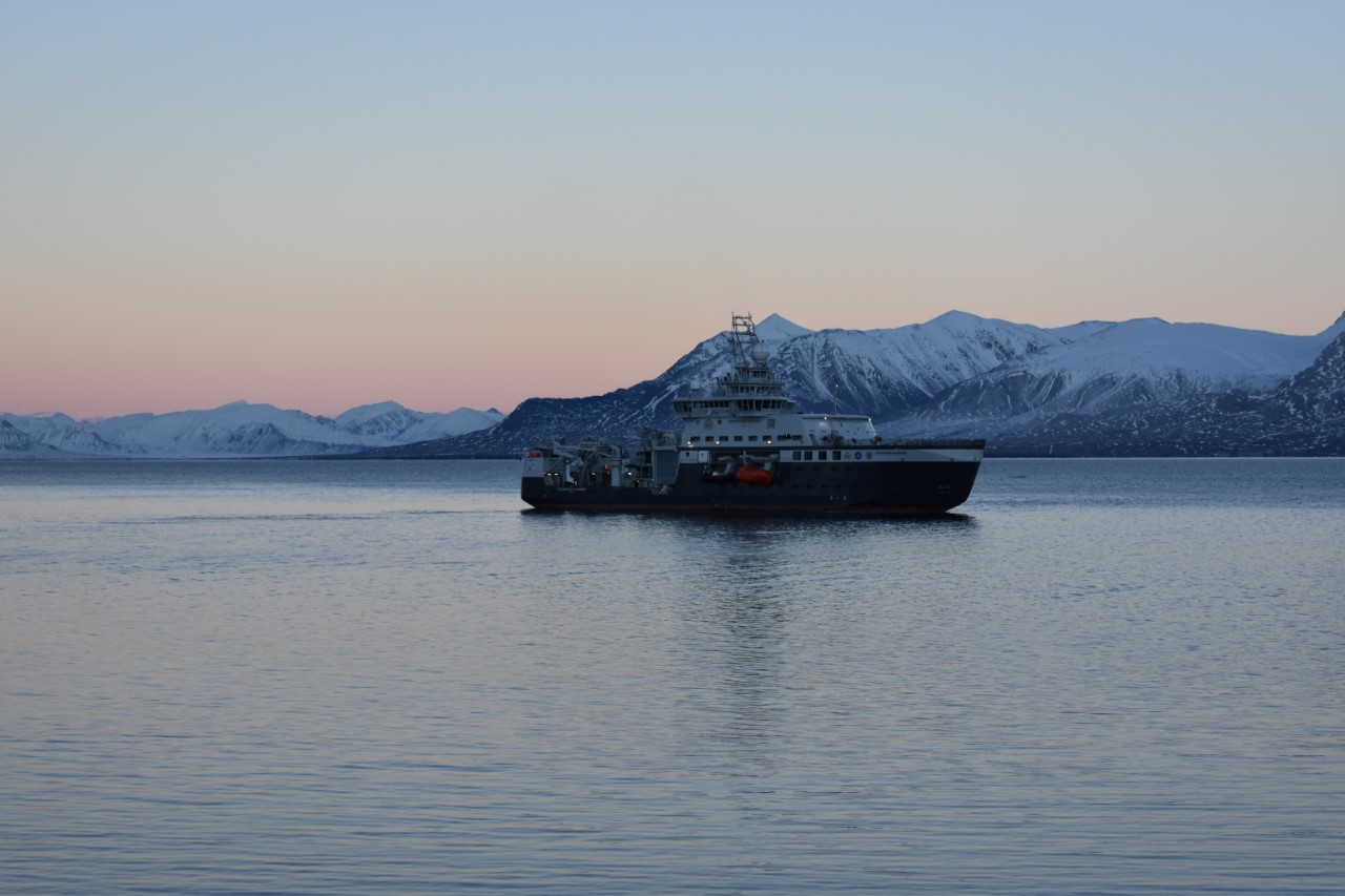 Research ship in the Arctic