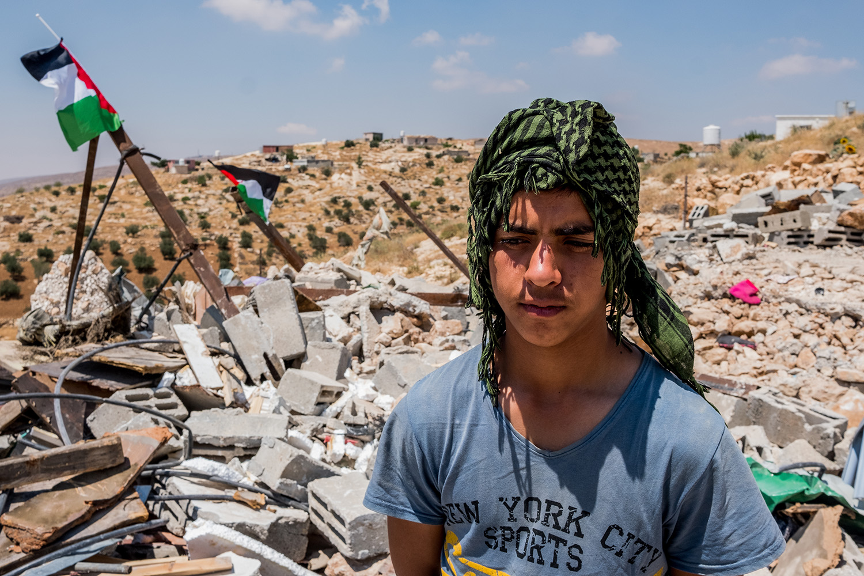 Photo of boy in Palestine by Carter Eugene Adams