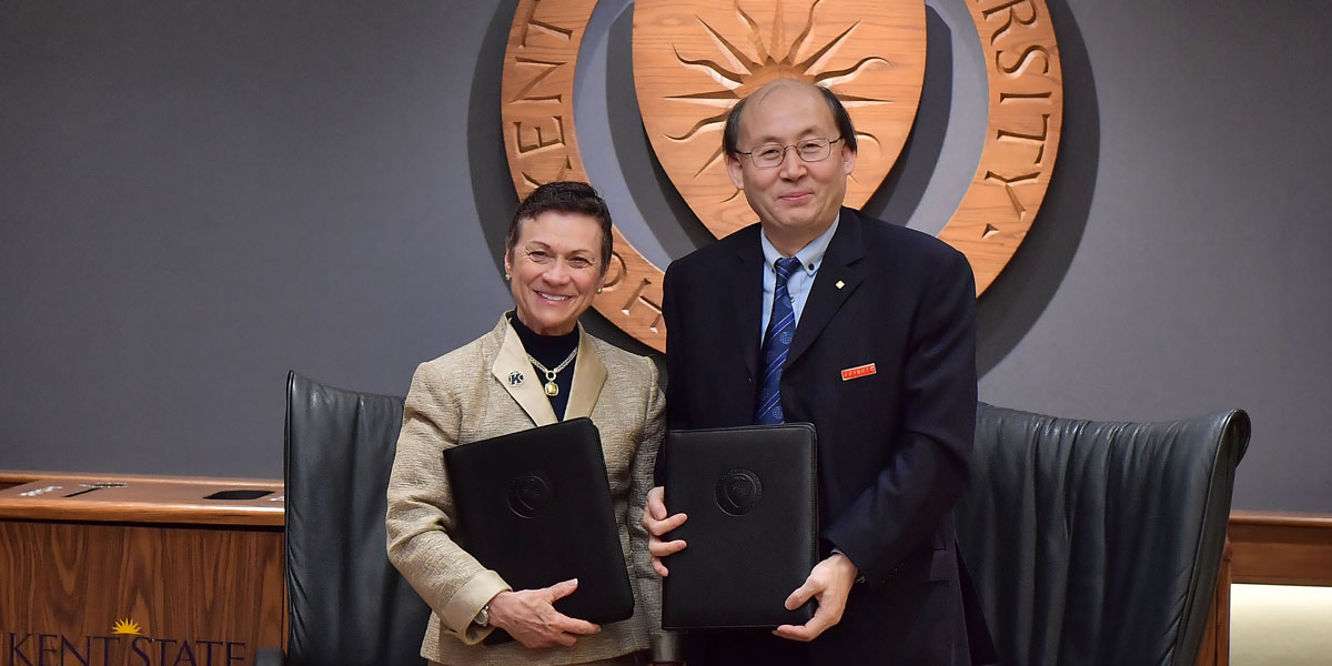 Kent State partners with a university in China