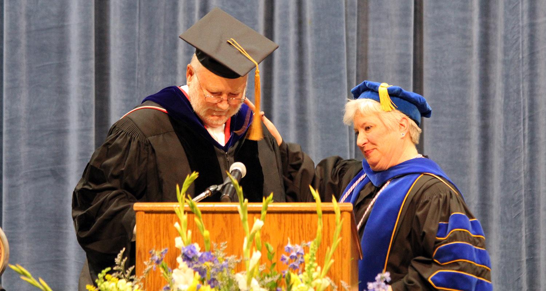 Dr. John Cogan and Ashtabula Dean Susan Stocker
