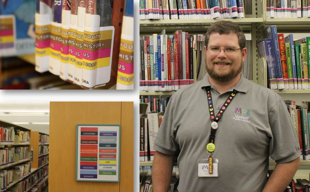 Shawn Walsh MLIS '15 at Madison Public Library