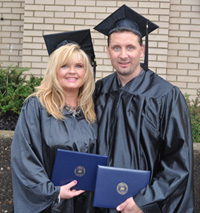 Husband and wife Joe and Angie Shaffer graduate from Kent State's ADN program