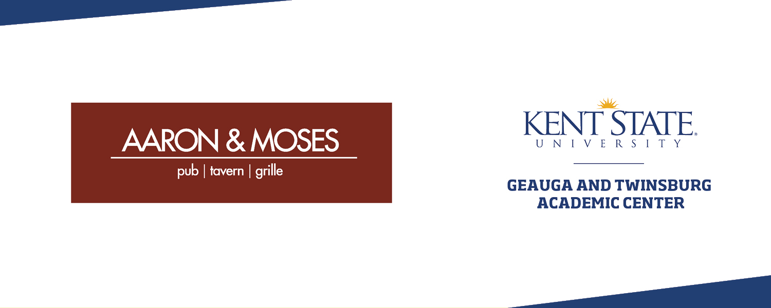 Aaron & Moses logo and Kent State Geauga logo