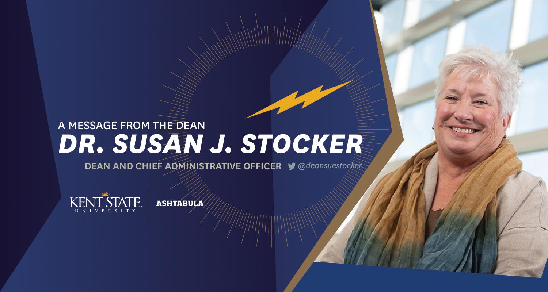 Message from Dean Susan J. Stocker